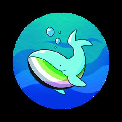 Aromantic Pride Whale