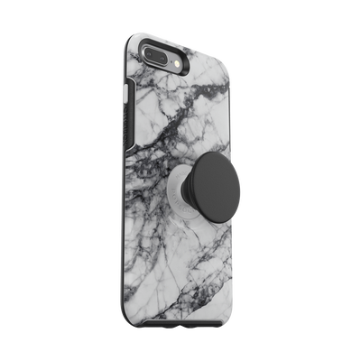 Otter + Pop White Marble Symmetry Series Case