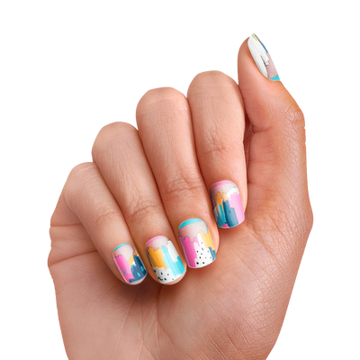 PopSockets Nails Painterly Pastels
