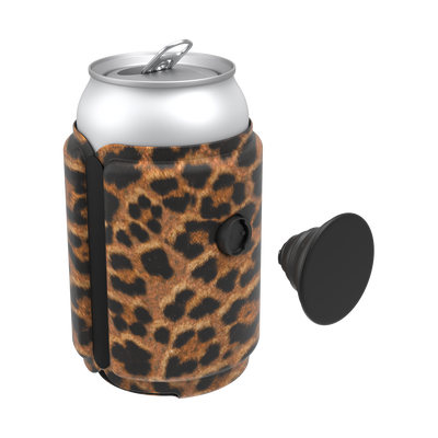 PopThirst Can Holder Leopard Prowl