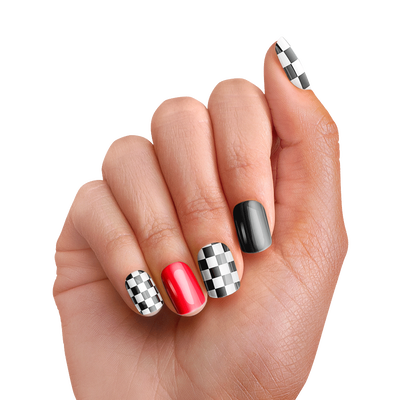 PopSockets Nails Checker Black