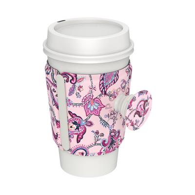 PopThirst Cup Sleeve Felicity Paisley Pink