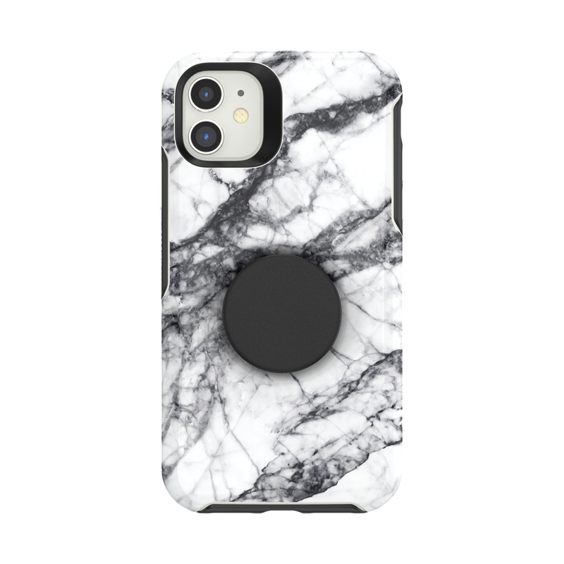 Otter + Pop Symmetry Series Case White Marble image number 0