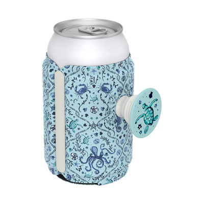 PopThirst Can Holder Mint Sea Life