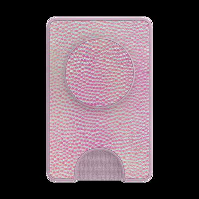 PopWallet+ Iridescent Pebbled Blush
