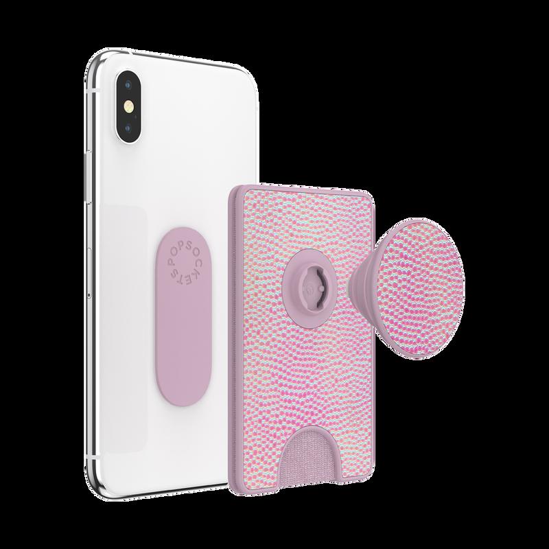 PopWallet+ Iridescent Pebbled Blush image number 2