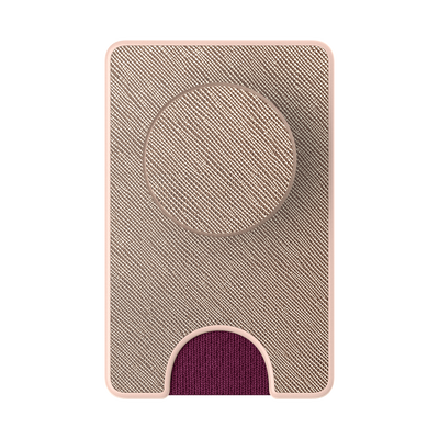PopWallet+ Saffiano Rose Gold