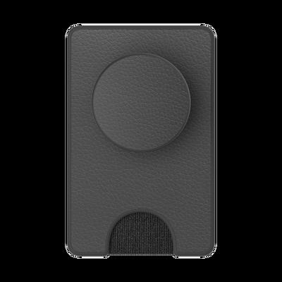 PopWallet+ Pebbled Vegan Leather Black