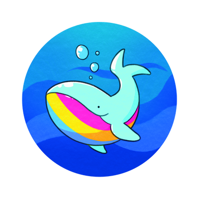 Pansexual Pride Whale