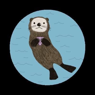 Otter in danger