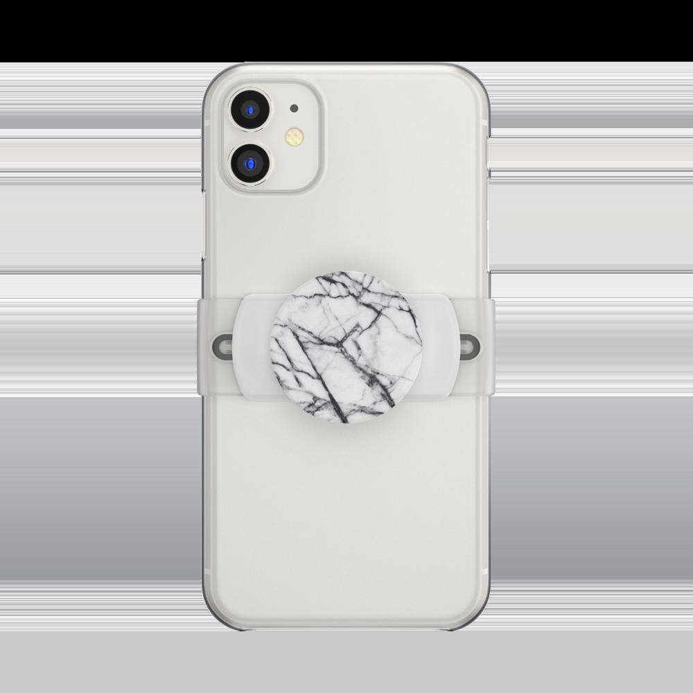 PopGrip Slide Stretch Dove White Marble
